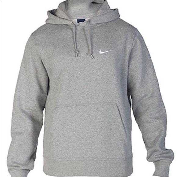 nike fleece gray hoodie